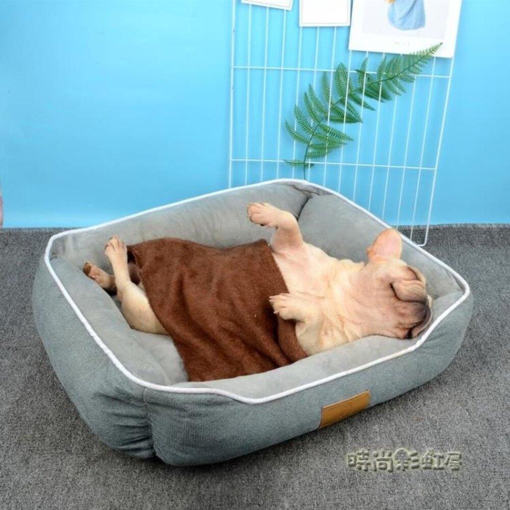 FADOU法斗狗窩貓窩大型中型小型犬泰迪巴哥法斗狗窩保暖寵物用品「時尚彩虹屋」