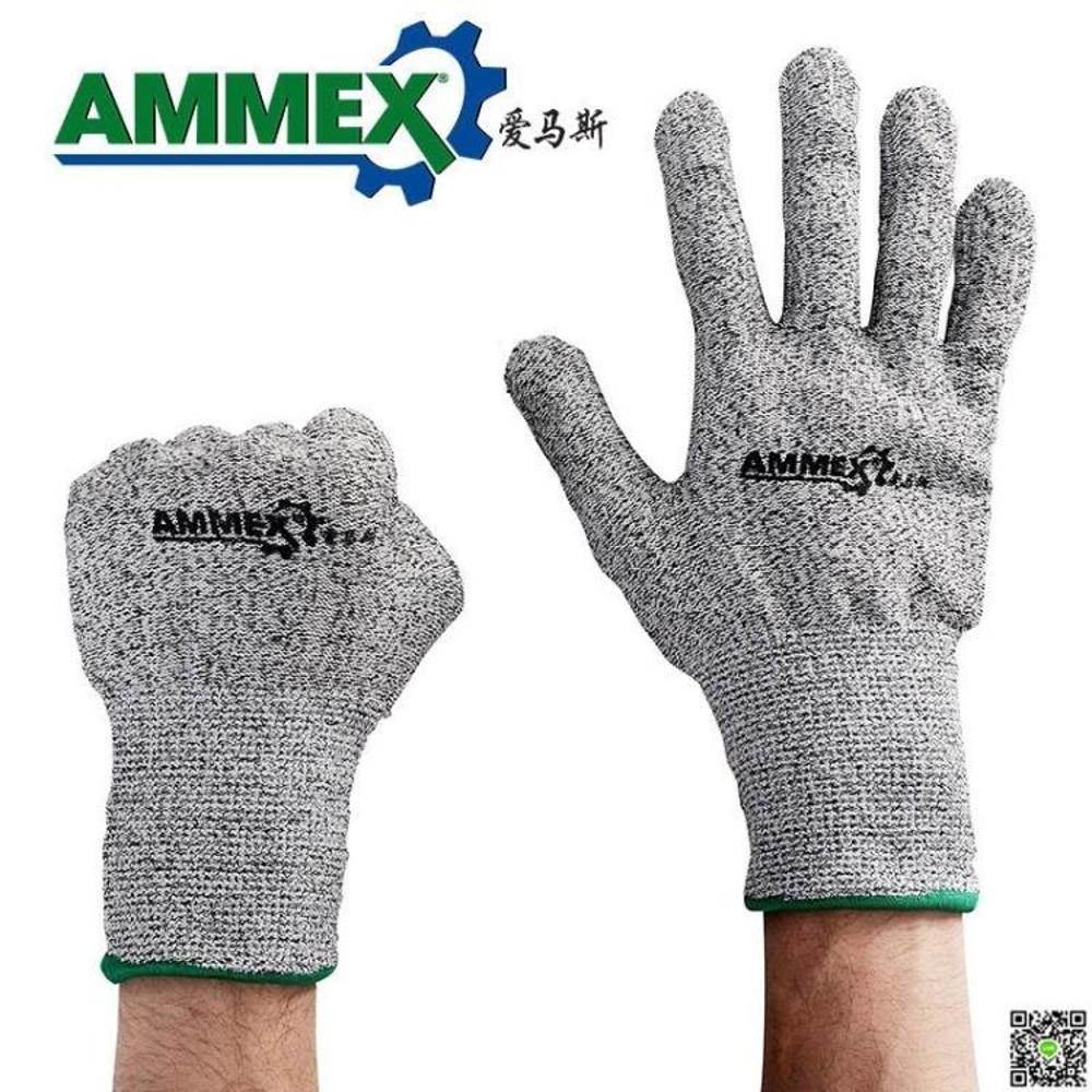 防割手套防割手套工人勞保耐磨加厚工地防護工作浸膠防滑勞動手套 年貨節預購