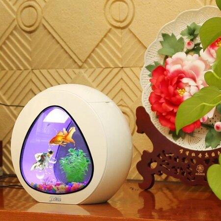 水族箱 森森佳璐魚缸水族箱小型桌面創意茶幾辦公室家用生態亞克力魚缸 MKS薇薇 清涼一夏特價