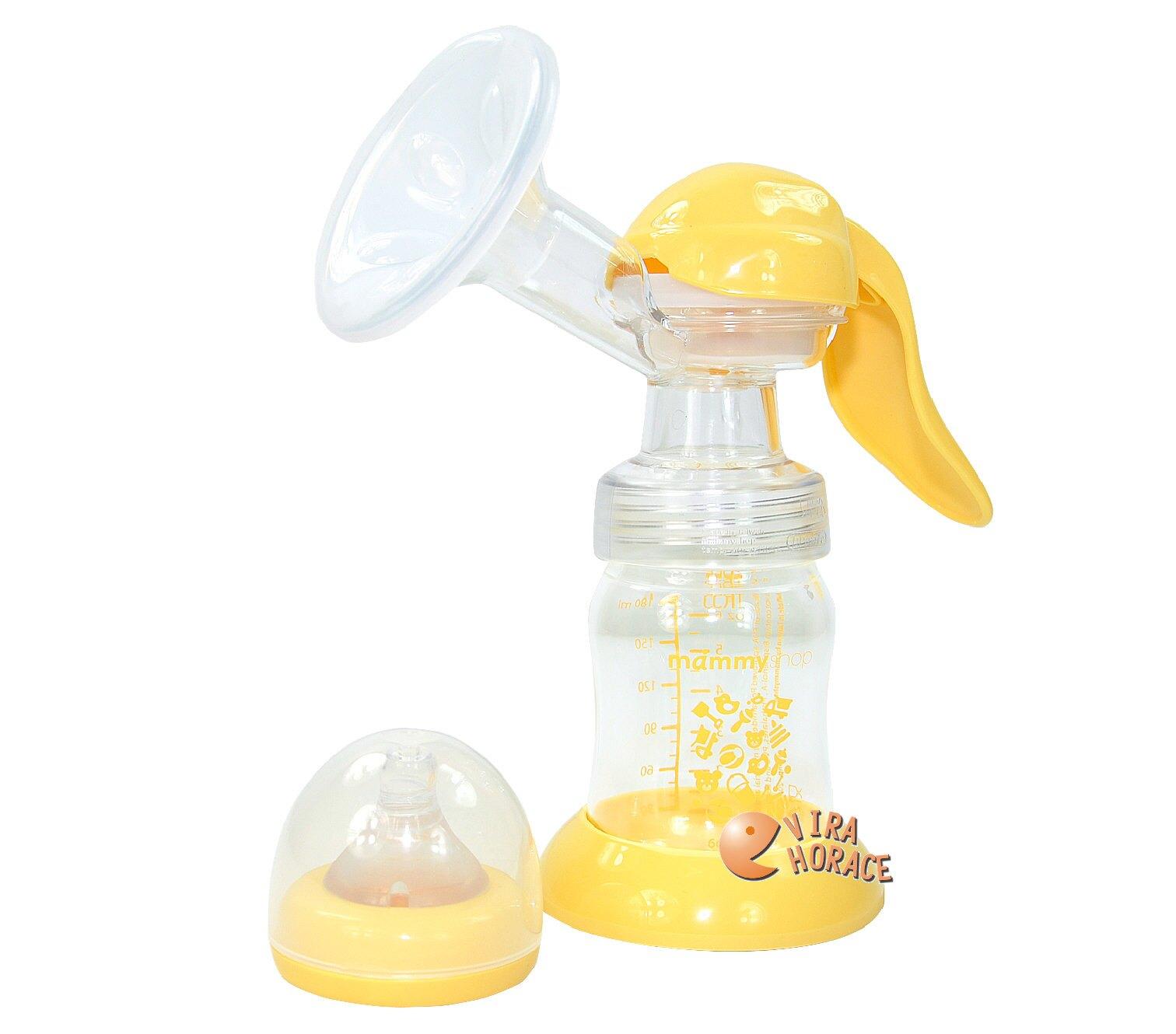 mammyshop媽咪小站母感紓壓手動吸乳器,贈母感防溢乳墊30枚及母乳冷凍袋150ML20枚