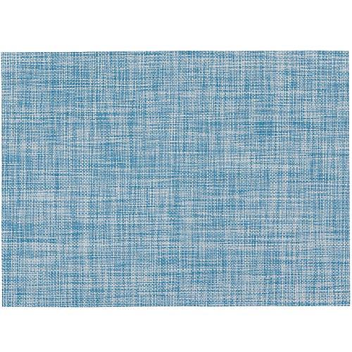 《NOW》編織長方餐墊(水藍)