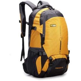 アウトドア、旅行バックパックのショルダーバッグの男性と女性の防水ハイキング登山バッグ,黄