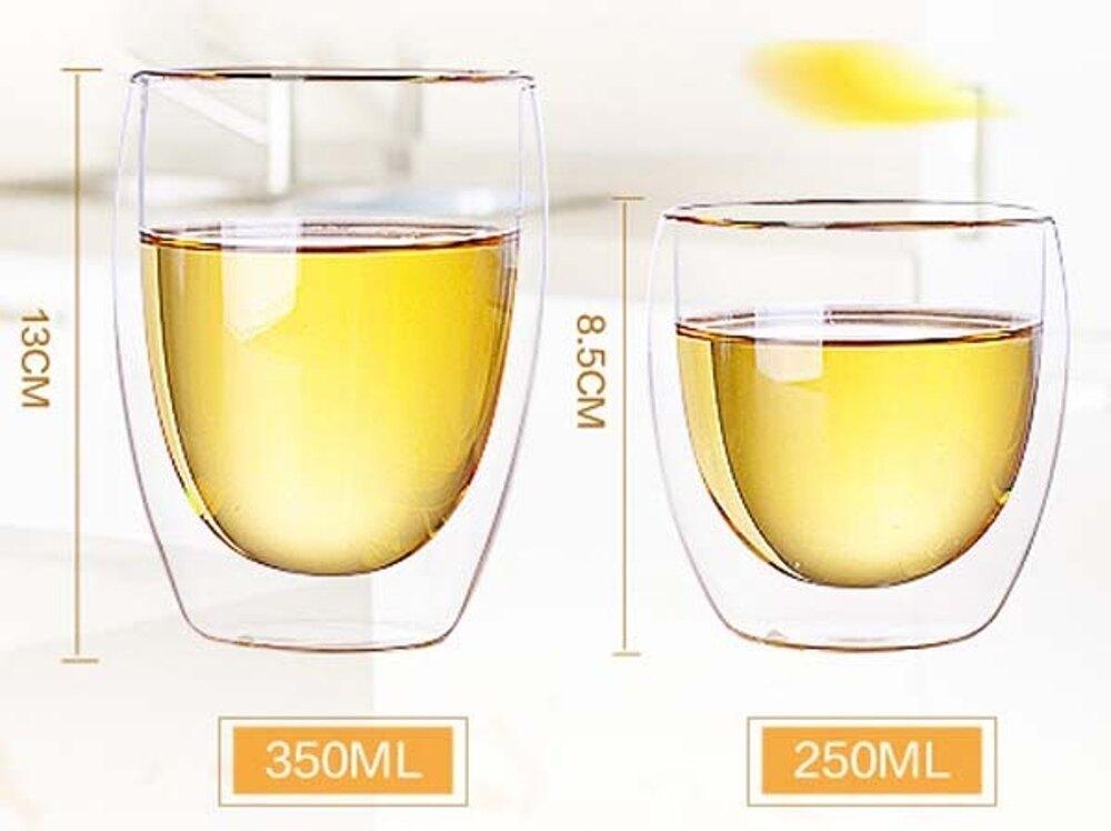 《買五送一共六杯》超實用 雙層隔熱玻璃杯 熱飲不燙手 冰飲不滴水 ( 250ml )