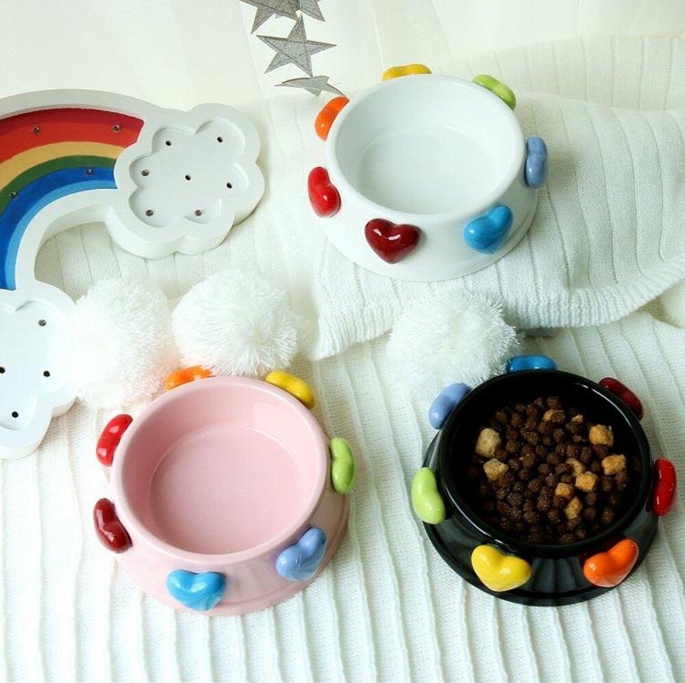 寵物碗 緋聞 獨家定制 美到哭泣 的愛心陶瓷寵物貓咪狗狗食盆狗碗貓碗 韓菲兒 聖誕節禮物
