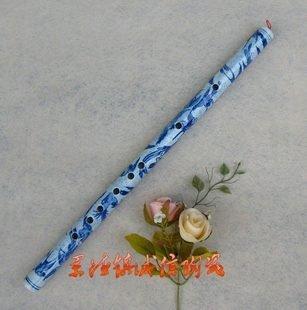 陶瓷花鳥工藝品 吹奏樂器 笛子 蕭 青花瓷器藝術