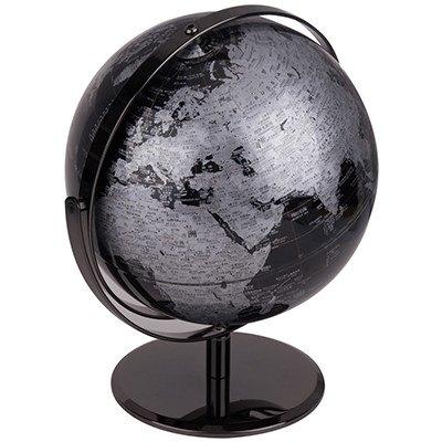 【萬向地球儀-2162-直徑25cm-1套/組】金屬漆面不銹鋼支架中英印刷雙軸旋轉地理教學用品-586003