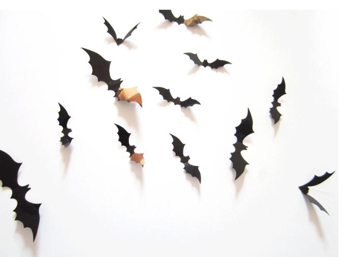 東區派對--萬聖節佈置/立體蝙蝠/窗貼/牆貼/3D蝙蝠
