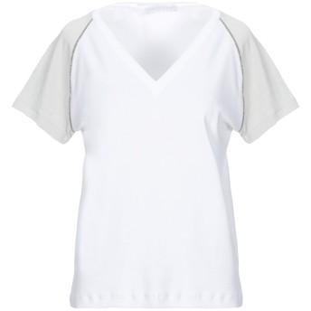 《セール開催中》FABIANA FILIPPI レディース T シャツ ホワイト 44 コットン 94% / ポリウレタン 6%