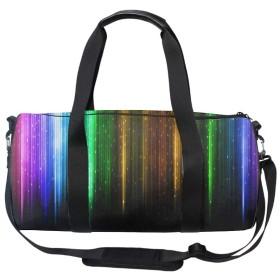ラウンドダッフルバッグ 色の抽象的なパターン