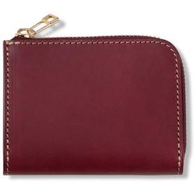 ミニ財布 コンパクト財布 レディース メンズ 本革 名入れ かわいい 小さい財布 薄い L字ファスナーミニ財布 ワイン パープル 紫 ARTBROWN(アートブラウン)