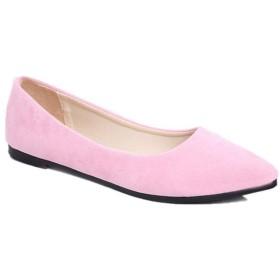 [NJI] パンプス レディース 痛くない ピンク ふわふわ クッション 走れる ローヒール スエード 低反発 柔らかい チャンキーヒール 美脚 歩きやすい 婦人靴 低反発クッション 太ヒール パンプス 24.0cm ヒール 走れる パンプス ポインテッドトゥ