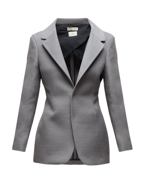 Bottega Veneta - Single-breasted Blazer - Womens - Grey