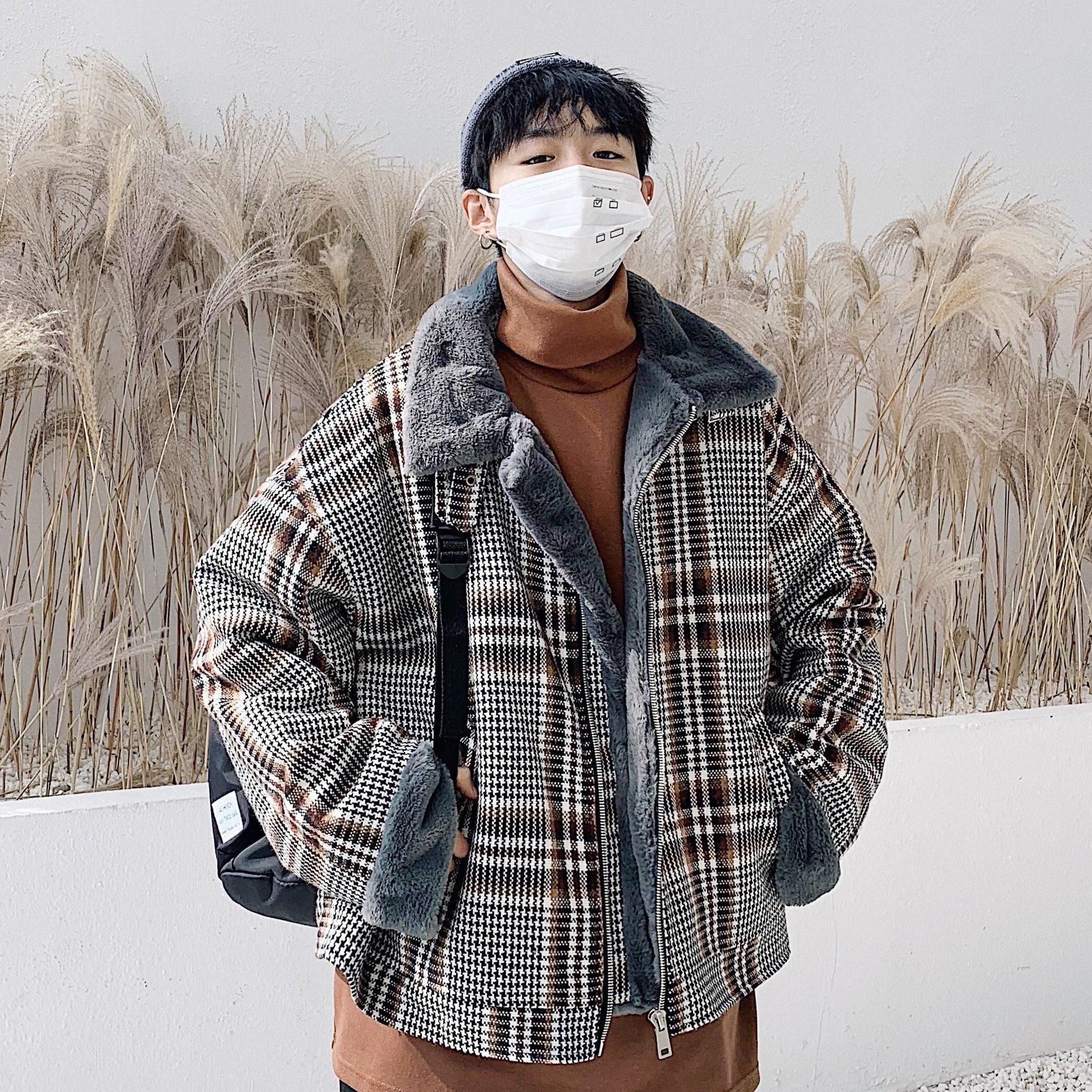FINDSENSE品牌 秋冬季 新款 韓國 嘻哈純色 復古 長袖 運動 加絨加厚 寬鬆顯瘦 外套  時尚 潮流上衣