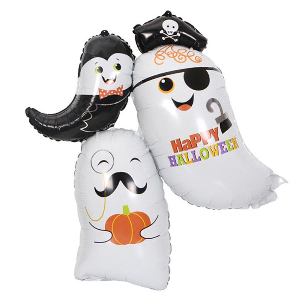 萬聖節三隻幽靈派對大翅膀蝙蝠鋁膜氣球  佈置【BlueCat】