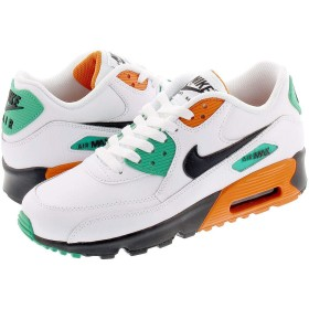[ナイキ] AIR MAX 90 LTR GS WHITE/BLACK/STARFISH23.5cm [並行輸入品]