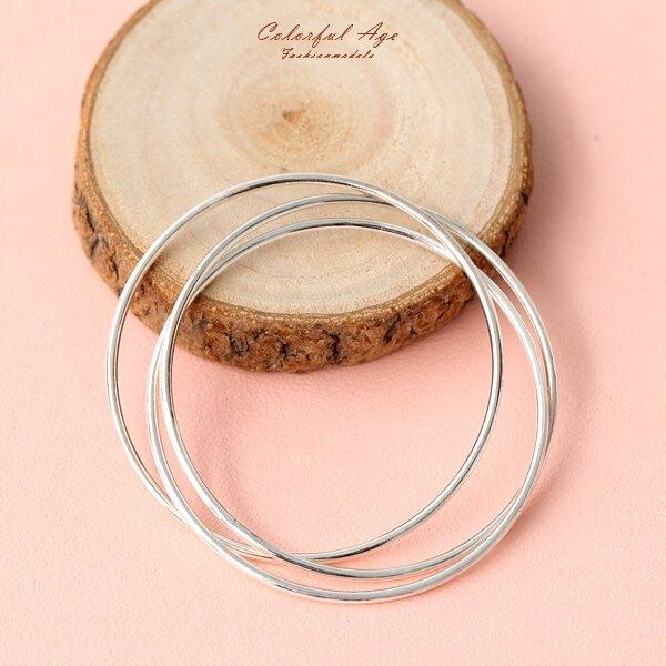 925純銀多層次三環圓形手環【NPA71】柒彩年代