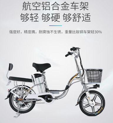 電動車 格士鈴16寸依蘭公主48V鋁合金鋰電池電動自行車外賣電動車   99一件免運