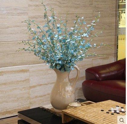 知根高仿真花文心蘭跳舞蘭現代時尚家居裝飾花假花絹花擺設花藝(一枝價)(圖一)
