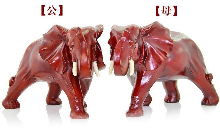 象工藝品家居飾品 紅木大象擺設 家居風水家裝飾品 辦公桌象擺件