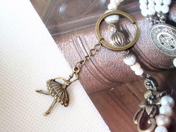 飾品複古風超精美芭蕾舞女孩鑰匙扣包包掛件