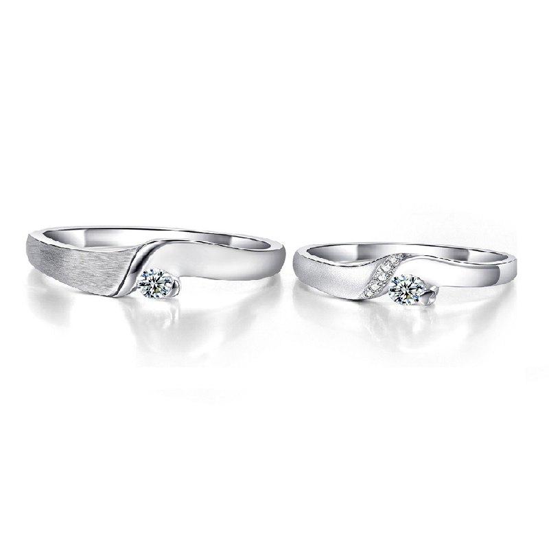 捧住幸福 鑽石求婚結婚對戒(戒圍加大不加價)(可單買洽設計師)