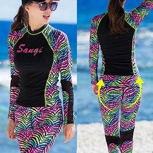 迷彩長褲款衝浪二件式泳衣(兩件式2件式游泳衣.成人浮潛衣潛水服.分體防曬水母衣水母服運動服瑜珈服.泳裝戶外沙灘溫泉泡湯.專賣店特賣會推薦哪裡買)E311-S17096