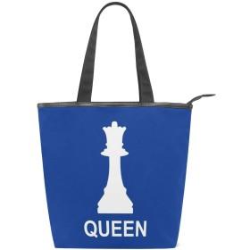 トートバッグ おしゃれ 女王チェス ハンドバッグ キャンバスバッグ 人気 可愛い 帆布 カジュアル [並行輸入品]