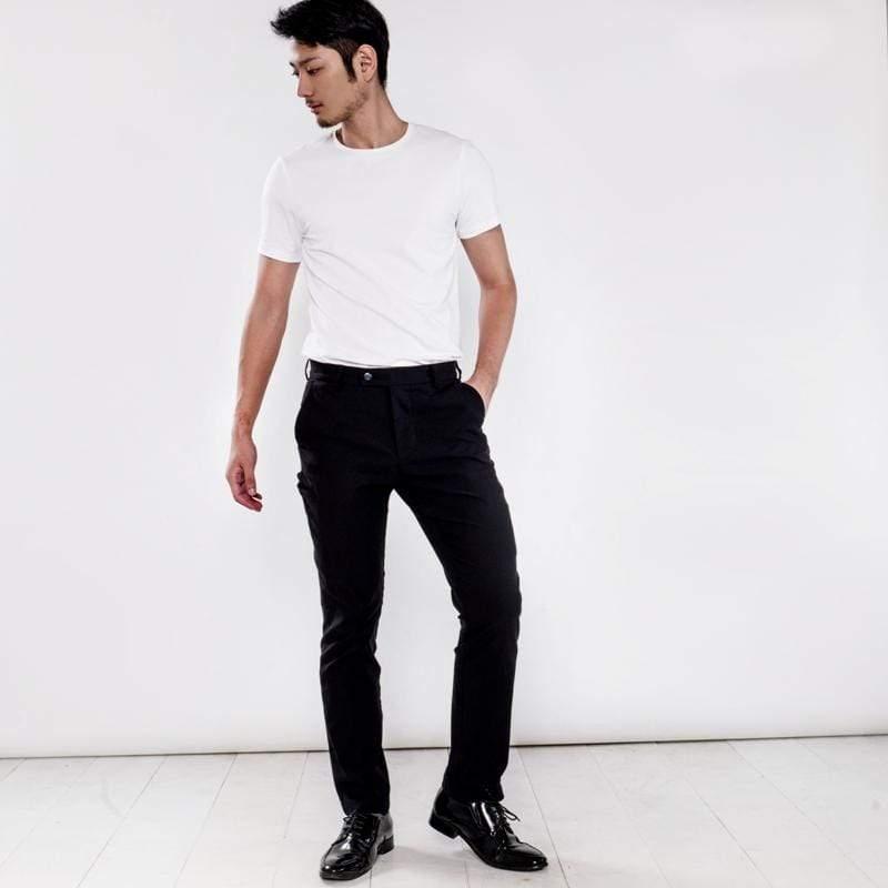 曼哈頓八口袋商旅紳士褲 兩件組 極致黑 + 瑪雅藍 尺碼 36