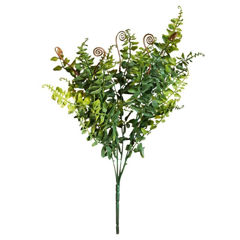 掬涵 礫葉蕨 仿真蕨葉 叢林蕨類植物 綠植仿真花花藝插花裝飾1入