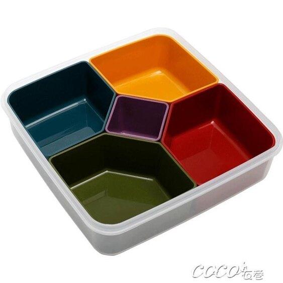 果盤 創意乾果盤 分格帶蓋瓜子盤 家用客廳糖果盒零食盤堅果盤  聖誕節禮物