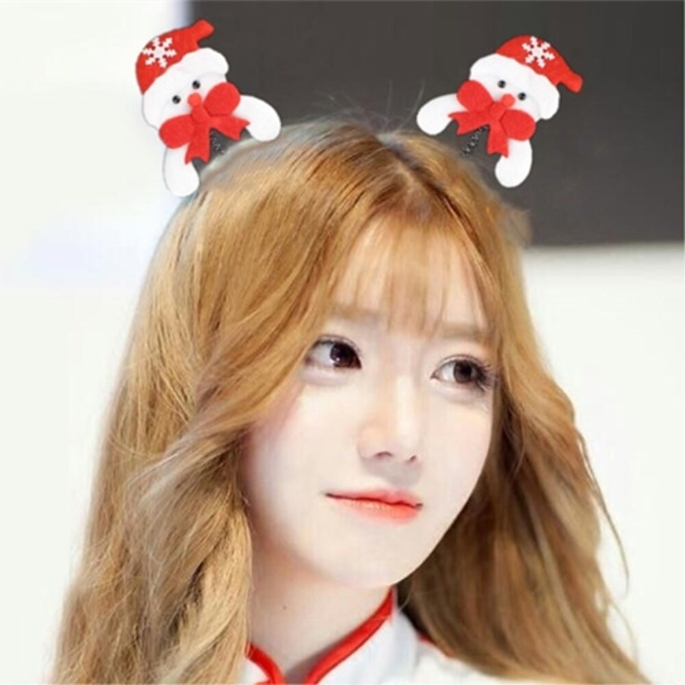 ✤宜家✤聖誕髮箍 聖誕老人頭箍 雪人麋鹿髮箍 大人小孩適用