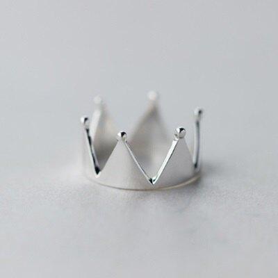 925純銀戒指開口戒-歐美時尚個性皇冠情人節生日禮物女飾品73dt607【獨家進口】【米蘭精品】