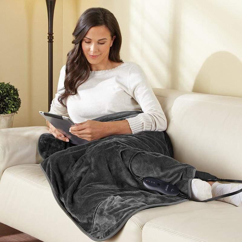 柔毛披蓋式電熱毯 (氣質灰)