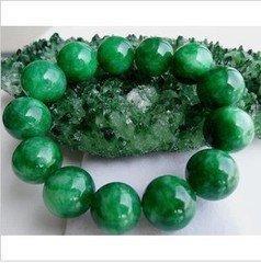 翡翠手鏈滿綠玉珠手鏈串 男女款串珠手串特價 16.5MM