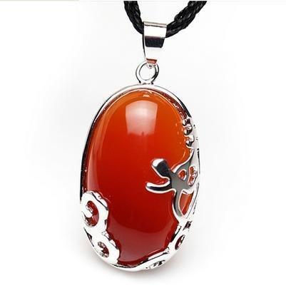 開光紅瑪瑙屬雞吉祥物壬騎龍背吊墜 水晶飾品女男士