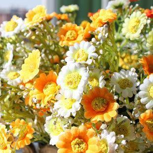 星星菊 仿真花 絹花 人造花 家居飾品 花藝 新家裝飾 新家擺件特價2束