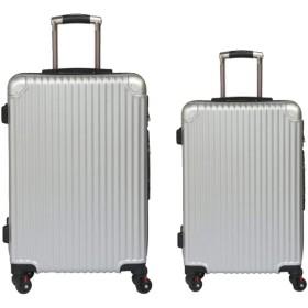 荷物バッグ、ユニバーサルホイール荷物、abs + pcトロリーケース、搭乗荷物、-Silver-S