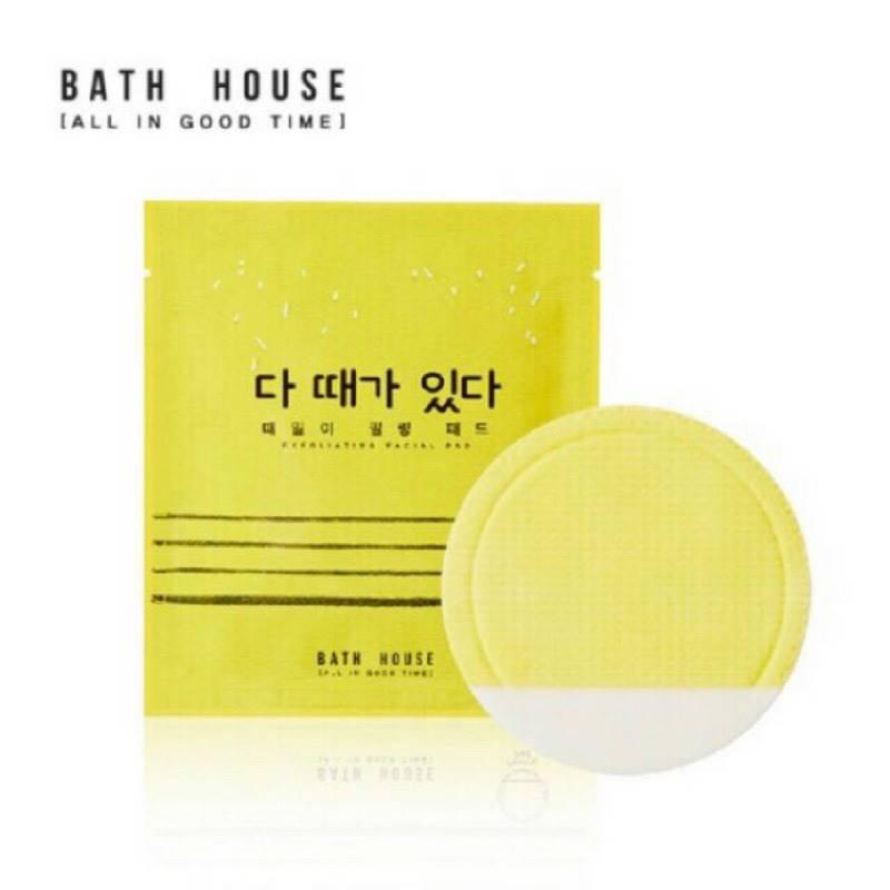 韓國Bath House 臉部去角質棉片1片入