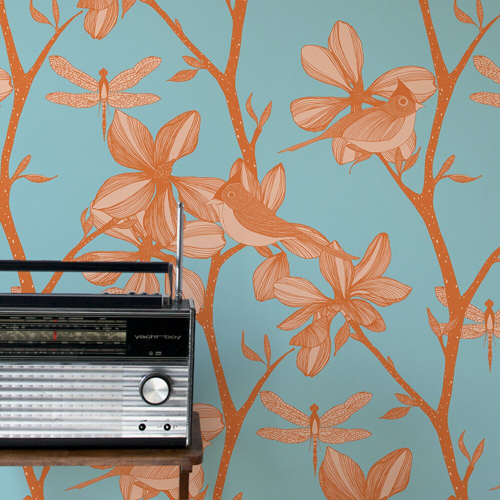 Camilla Meijer / The English Garden pumpkin 壁紙 (訂貨單位52cm10m/卷)