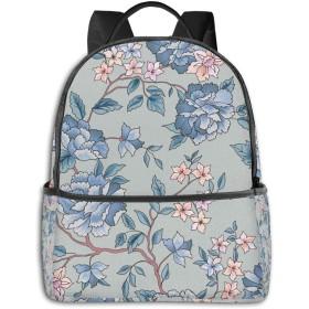 ファッションミニトラベルバックパック、十代の男の子の女の子の女性の男性のためのかわいい学校のショルダースクールバッグ-花柄