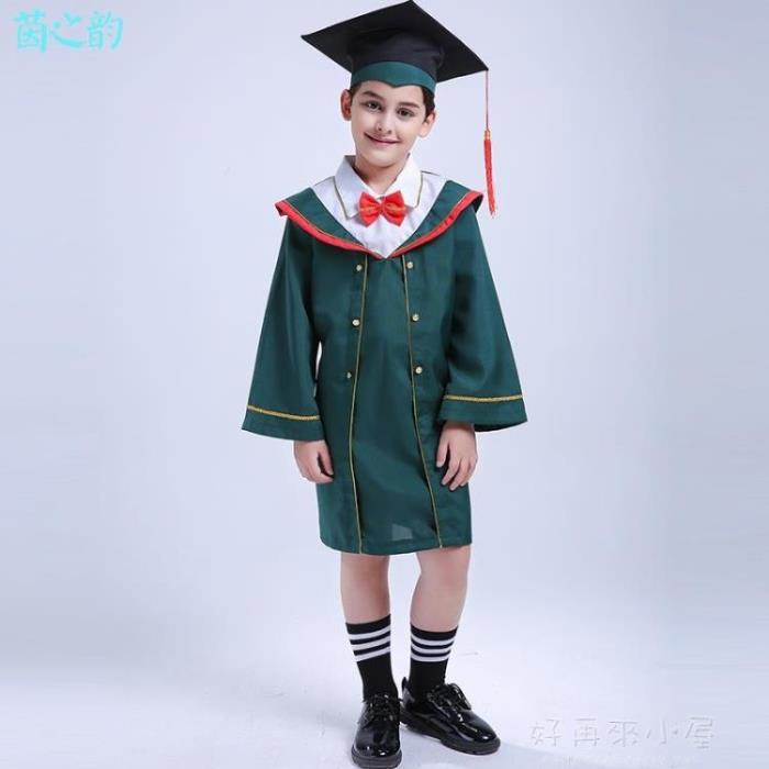 兒童博士服小學生幼兒園博士服學士服演出服博士帽畢業禮服表演服