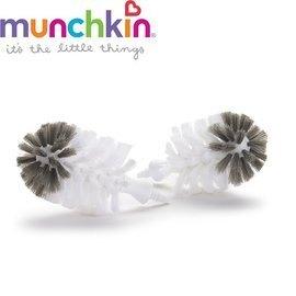 美國 Munchkin 不鏽鋼奶瓶刷替換刷頭2入【紫貝殼】