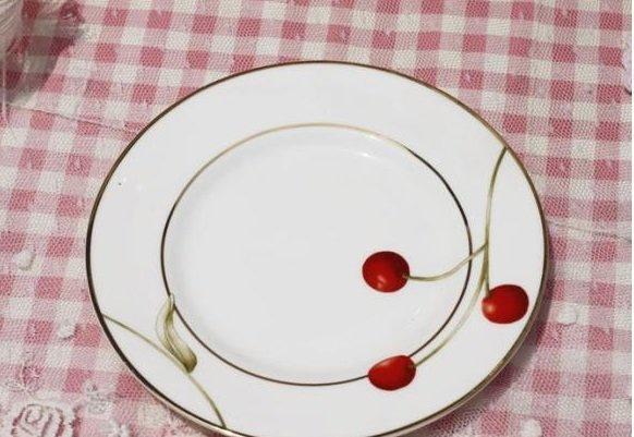 紅櫻桃陶瓷小碟子 蛋糕碟 零食碟 點心碟 小小水果碟 糖果碟