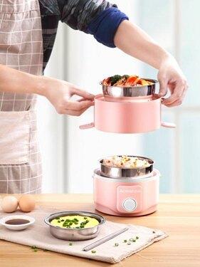 志高電熱飯盒自動加熱保溫可插電上班族1人帶蒸飯神器多功能雙層 年會尾牙禮物