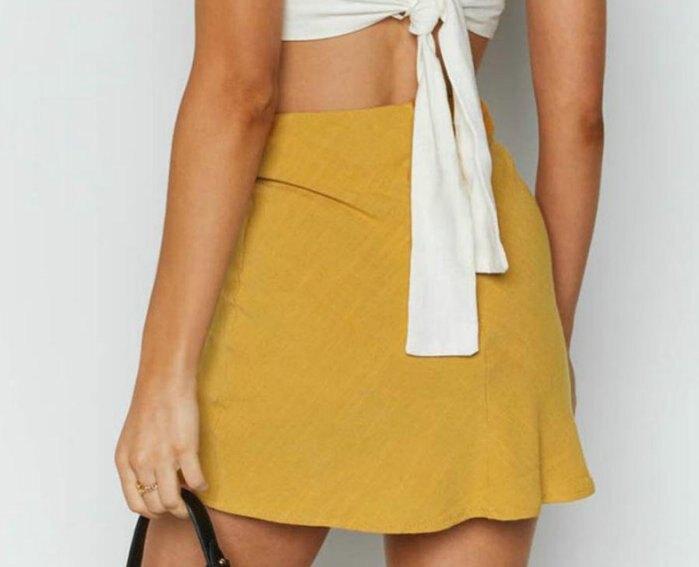 歐美新款女裝性感開衩高腰拉鍊短裙迷你裙 4色 ZC3213
