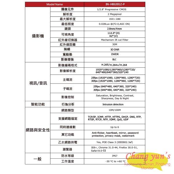 高雄/台南/屏東監視器 ICATCH可取套餐 IVR-0461UC-1 Ultra 4路NVR + IN-HB3201Z-P 網路攝影機*3