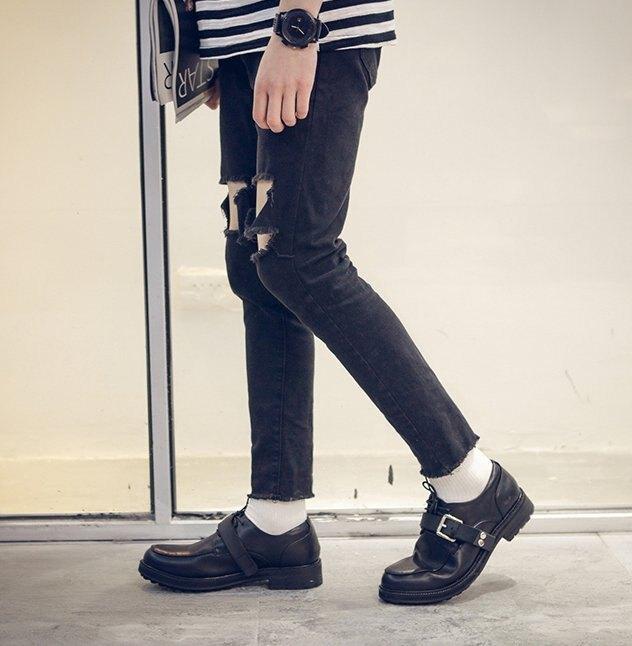 【JP.美日韓】 歐美高端 厚底 皮鞋 鬆糕鞋 真皮 膠底 質感 大設計