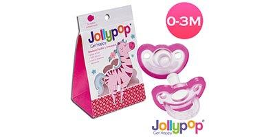 Jollypop 香草安撫奶嘴0-3M粉 贈 貓頭鷹收納盒『121婦嬰用品館』