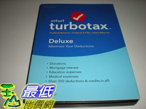 [7美國直購] 2018 amazon 亞馬遜暢銷軟體 Turbotax Deluxe 2016 Federal Only, No State, Old Version, Fed Efile