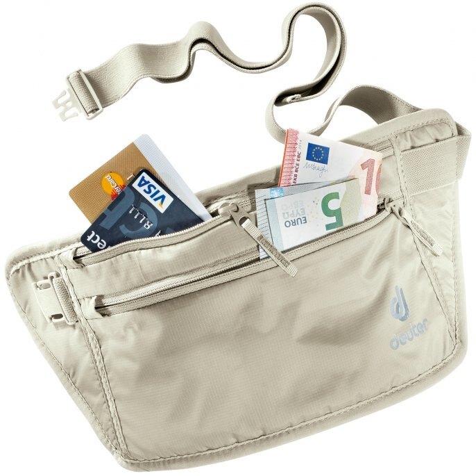 【Deuter 德國】Security Money Belt II 隱藏式錢包 旅行袋 藏錢腰包 證件袋 隨身袋 白卡其 (3910316)